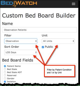Custom Bed Board Builder Filter and Sort.png
